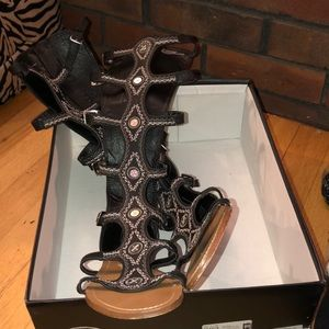 Shoes - Tall gladiator sandals (worn once)